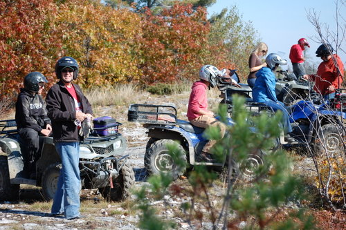 8 of us gathered for a Fall ATV Trip