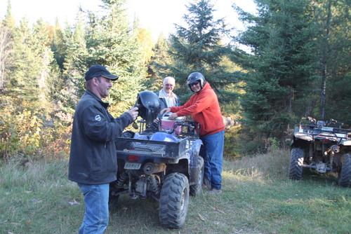 ATVing with friends at Waterfalls Lodge in Northern Ontario