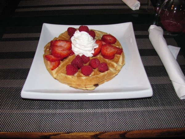 """Breakfast is the most important meal of the day.  You have a healthy choices of, a bowl of Oatmeal, Fruit parfait, Pancakes, French Toast, Waffles,  or a """"hungry persons breakfast"""" with 3 eggs, bacon, sausage, ham, toast and home fries."""