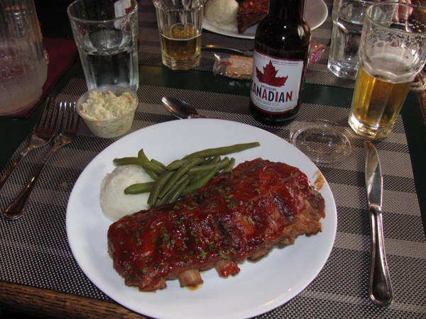 Ontario canada fishing lodge ribs dinner